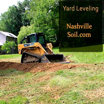 Nashville Bobcat Work Nashville Skidsteer workThis photo is a skidsteer performing nashville yard leveling.